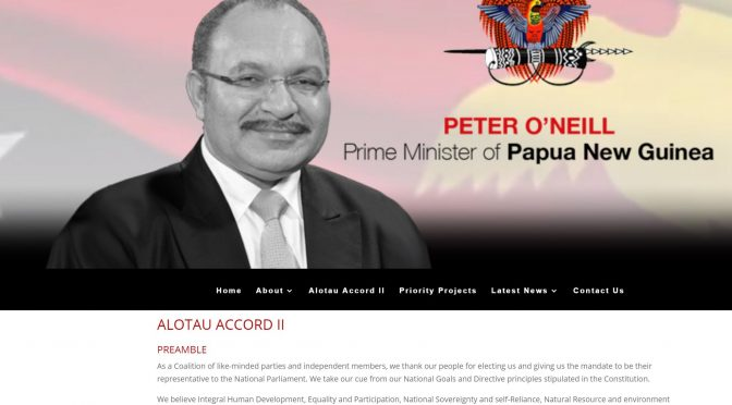 Alotau II Accord – insulting most in PNG